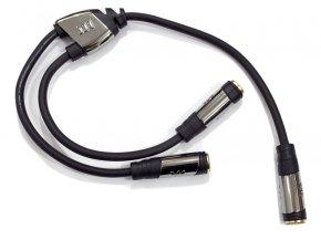 Imagem - Cabo Y Adaptador com 1 P10 Fêmea Estéreo para 2 P10 Fêmea Mono | Monster Cable | MCL-FST2FM - MCL-FST2FM