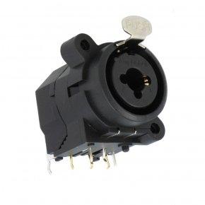 Imagem - Conector combo com contatos horizontal, P10 Fêmea estéreo + XLR Fêmea 3 pinos | Amphenol | ACJC6H - ACJC6H