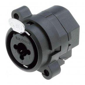 Imagem - Conector combo com contatos vertical, P10 Fêmea estéreo + XLR Fêmea de painel 3 pinos | Amphenol | ACJC6V - ACJC6V
