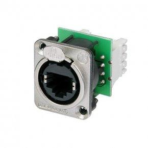Imagem - Conector EtherCcon RJ45 de painel com formato D em metal | Neutrik | NE8FDV-Y110 - NE8FDV-Y110