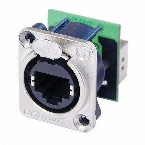 Imagem - Conector EtherCcon RJ45 de painel com formato D em metal | Neutrik | NE8FDP - NE8FDP