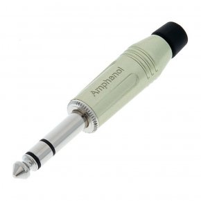 Imagem - Conector P10 estéreo de linha com contatos em Nickel | Amphenol | ACPS-GN - ACPS-GN