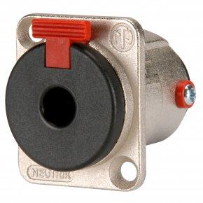 Imagem - Conector P10 fêmea estéreo 3 pólos de painel com trava, conexão jack de 1/4 e corpo de metal | Neutrik | NJ3FP6C - NJ3FP6C