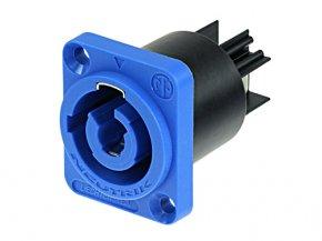 Imagem - Conector PowerCON de painel Azul para entrada de energia | Neutrik | NAC3MPA-1 - NAC3MPAAZUL