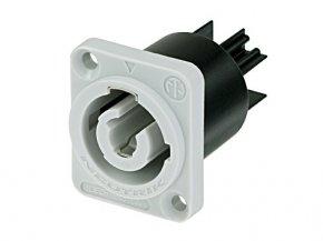 Imagem - Conector PowerCON de painel Branco para saída de energia | Neutrik | NAC3MPB-1 - NAC3MPB