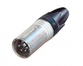 Imagem - Conector XLR macho de linha 4 pólos, carcaça de níquel e contatos de prata | Neutrik | NC4MXX - NC4MXX