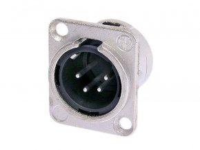 Imagem - Conector XLR macho de painel com 4 polos em níquel e contatos de prata | Neutrik | NC4MDL-1 - N4CMDL-1