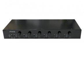 Imagem - Distribuidor e Setorizador passivo para som ambiente | 6 controles de volume e mute | PWS | SST612P - SST612P