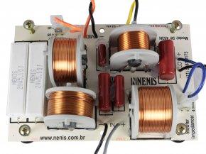 Imagem - Divisor de Frequência 3 vias Passivo | 1 ou 2 Alto falantes, 1 Driver fenólico e 1 Tweeter de até 450W RMS | DF453H | Nenis