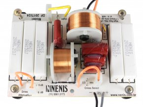 Imagem - Divisor de Frequência Passivo 1 via | Driver de Titanium @24dB/8° de até 200W RMS | DF201TI/24 | Nenis