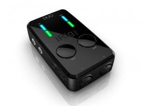 Imagem - Interface para Smartphone ou Tablet com 2 canais de entrada, 48V | IK Multimedia | Irig Pro Duo - IRIGPRODUO