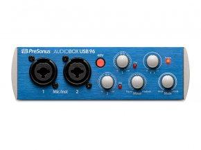Imagem - Interface USB, 2 canais de entrada e 2 saídas balanceadas P10 | 96 KHz | Presonus| AudioBox USB 96 - AUDIOBOXUSB96