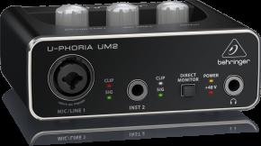 Imagem - Interface USB 2 entradas / 2 saídas com Pré-amplificador de Microfone XENYX | Behringer | UM2 - UM2