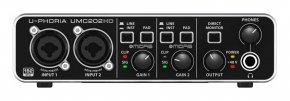 Imagem - Interface USB com 2 canais e pré-amplificador MIDAS, 24-Bit/192 KHz | Behringer | UMC202HD - UMC202HD