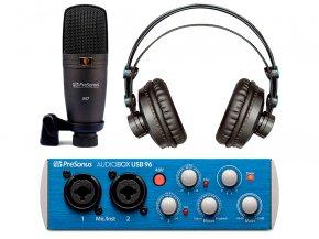 Imagem - Kit Home Estúdio com interface de 2 canais, mic e fone em 96kHz | Presonus |Audiobox 96 Studio - AUDIOBOX96STUDIO
