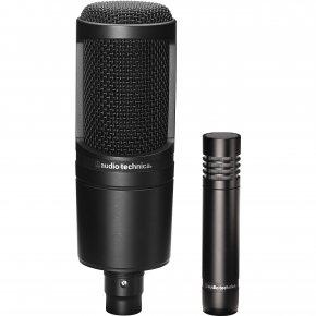 Imagem - Kit microfone de estúdio | 1 Microfone condensador diafragma lateral AT2020 | 1 Microfone condensador diafragma pequeno AT2021| audio-technica - AT2041SP