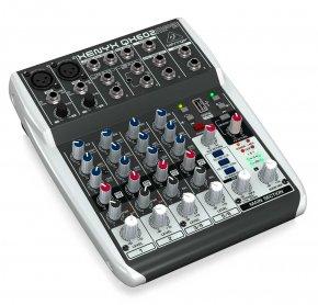 Imagem - Mesa analógica 4 canais | 2 canais XLR + 2 canais estéreo, EQ, MP3 Player e FX | Behringer QX602MP3 - QX602MP3