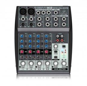 Imagem - Mesa analógica 4 canais | 2 canais com pré-microfone Xenyx + 2 canais estéreo | Behringer | XENYX 802 - XENYX802