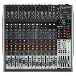 Imagem - Mesa de som analógica com 16 canais de entrada, 4 AUX e saída USB | Behringer | XENYX X2442USB - X2442USB