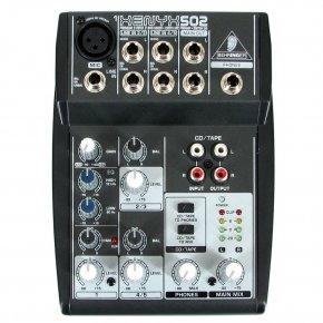 Imagem - Mesa De Som Analógica com 3 canais, 1 pré-amplificador e 2 entradas de linha | Behringer | Xenyx502 - XENYX502