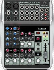 Imagem - Mesa Som com 6 canais, 2 pré-amplificador + 4 canais estéreo e USB | Behringer | Q1002USB - Q1002USB