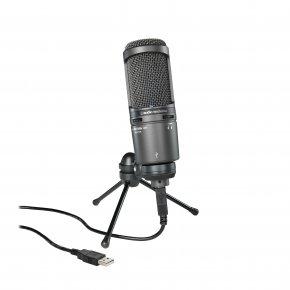 Imagem - Microfone condensador cardioide | Conexão USB para gravação digital | AT2020USB+ | audio-technica