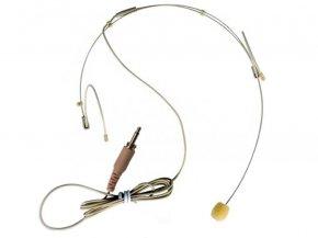 Imagem - Microfone headset na cor beje para sistema sem fio   Conexão P2 Mono com rosca   TSI   HS-FINE-P2 - HSFINE-P2