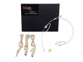 Imagem - Microfone Headset Ominidirecional na cor beje | Acompanha cabo mini XLR e P2 | TBS | TBS4000 - TBS4000