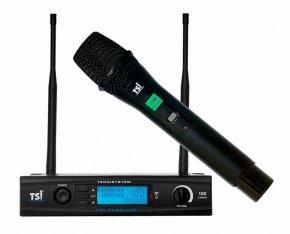 Imagem - Microfone sem fio de mão Super Cardioide UHF com Digital de 100 canais | TSI | 7099-UHF - 7099-UHF