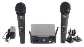 Imagem - Microfone sem fio duplo, cardioide e banda US25B - US25D | WMS40 Mini Dual Vocal Set | AKG - WMS40MINIDUAL