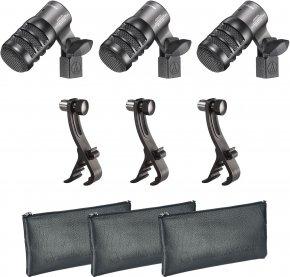 Imagem - Pack com 3 Microfones dinâmico hiper-cardioide para instrumento | ATM230PK | audio-technica
