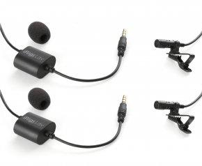 Imagem - Par de microfones de lapela para Smartphone ou Tablet | IK Multimedia | iRig Mic Lav 2 Pack - IRIGMICLAV-2