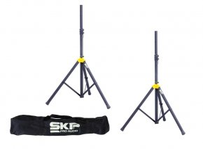 Imagem - Par de tripés para caixa acústica + bag para transporte | 110cm a 187cm | SKP Pro Audio | STD-4S - STD-4S