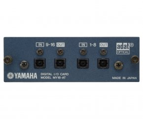 Imagem - Placa de expansão | MY 16-in/16-out ADAT interface | I/O opcional em slots | 4x Optical | Yamaha | MY16AT