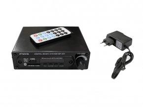 Imagem - Reprodutor MP3 com leitor USB/SD, Bluetooth e Radio FM | Saída RCA e Controle remoto | PWS | MP-401 - MP-401