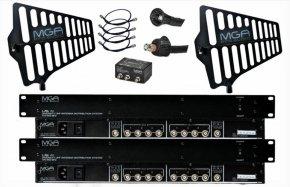 Imagem - Sistema de distribuição para 8 microfones sem fio com 2 antenas direcionais | MGA | US-4 212 2075 - US-4 212 2075