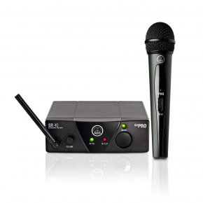 Imagem - Sistema de microfone sem fio, cardioide e frequência US25A 537.500 MHz | WMS40 Mini Vocal Set | AKG - WMS40MINI