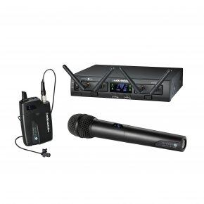Imagem - Sistema de microfone sem fio digital | 2,4 GHz 24-bit / 48kHz | 2 Microfones transmissores  Mão / Lapela | ATW-1312-L | audio-technica