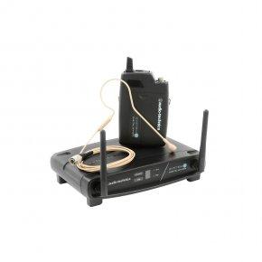 Imagem - Sistema de microfone sem fio digital | 2,4 GHz | Microfone transmissor Headset | ATW-1101/H92-TH | audio-technica