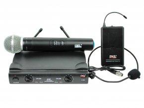 Imagem - Sistema de microfone sem fio duplo UHF, 1 microfone de mão e 1 microfone headset | JWL U-585MH - U585MH