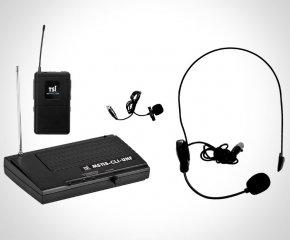 Imagem - Sistema de microfone sem fio UHF   1 Microfone de Lapela, 1 Microfone Headset   TSI   MS115-CLI-UHF  - MS115CLIUHF