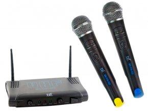 Imagem - Sistema de microfone sem fio UHF | 2 Microfones Cardioide de mão | TSI | MS215-UHF - MS215UHF
