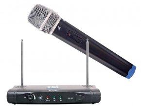 Imagem - Sistema de microfone sem fio VHF   Microfone transmissor de mão cardioide   TSI   MS 125 VHF - MS125-VHF