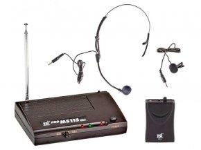 Imagem - Sistema de microfone sem fio VHF   Microfone transmissor Lapela e Headset   MS115 CLI-VHF   TSI - MS115-CLI-VHF