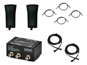 Imagem - Sistema de RF para 2 microfone UHF - Splitter, Antenas e Cabos | MGA Pro Audio | AS212 5005 2075 A2 - AS212-5005-2075-A2