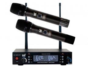 Imagem - Sistema duplo de microfones sem fio com processo de recepção duo-4 diversity | TSI | BR-7000-UHF - BR-7000-UHF
