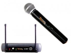 Imagem - Sistema sem fio VHF com microfone de mão dinâmico cardioide | Compativel | C-15V - C-15V