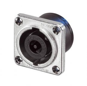 Imagem - Speakon 8 polos de painel, flange quadrado em metal de níquel | Neutrik | NL8MPR - NL8MPR