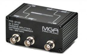 Imagem - Splitter Passivo para 2 microfones ou distribuidores e um par de antenas | MGA Pro Audio | AS 212 - AS212