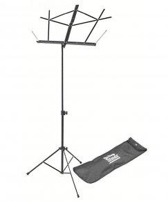 Imagem - Suporte de partitura em aço, compacto preto e com bolsa | On-Stage | SM7122BB - SM7122BB